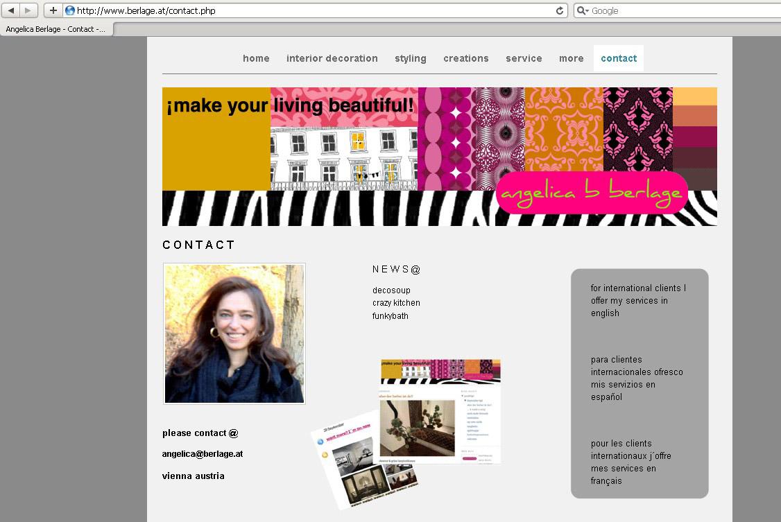 Webdesign für Designerin