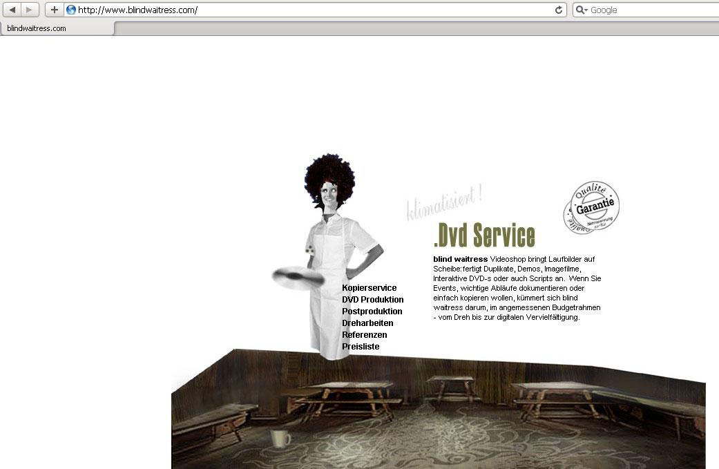 Webdesign für DVD Service