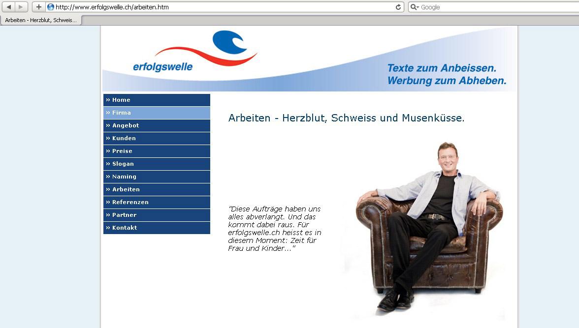 Webdesign für Werbetexter