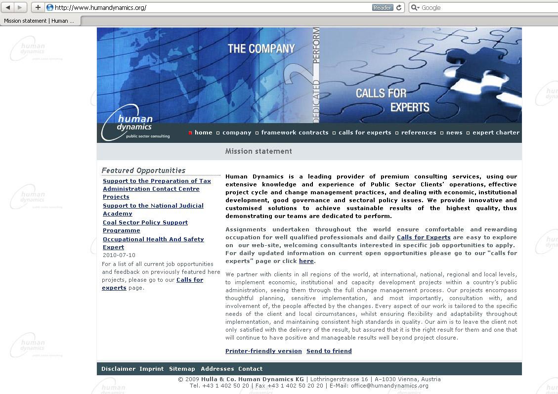Webdesign für Consulting Firma