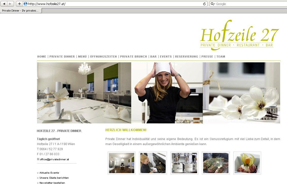 Webdesign für Restaurant
