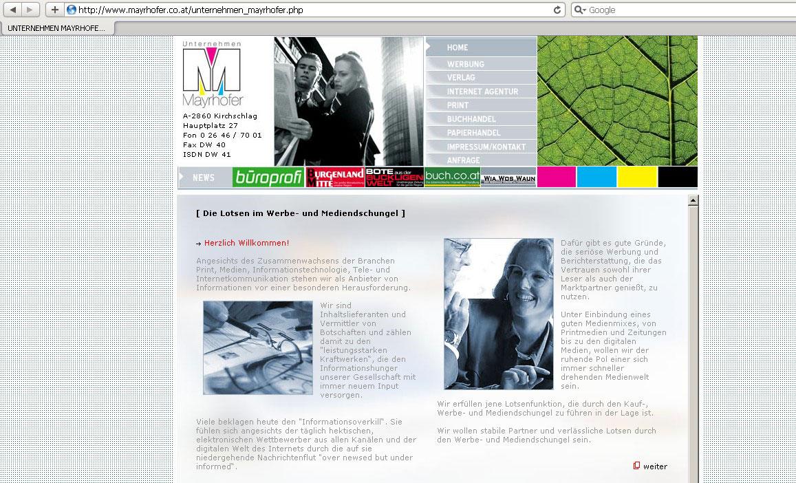 Webseitenerstellung für Verlag
