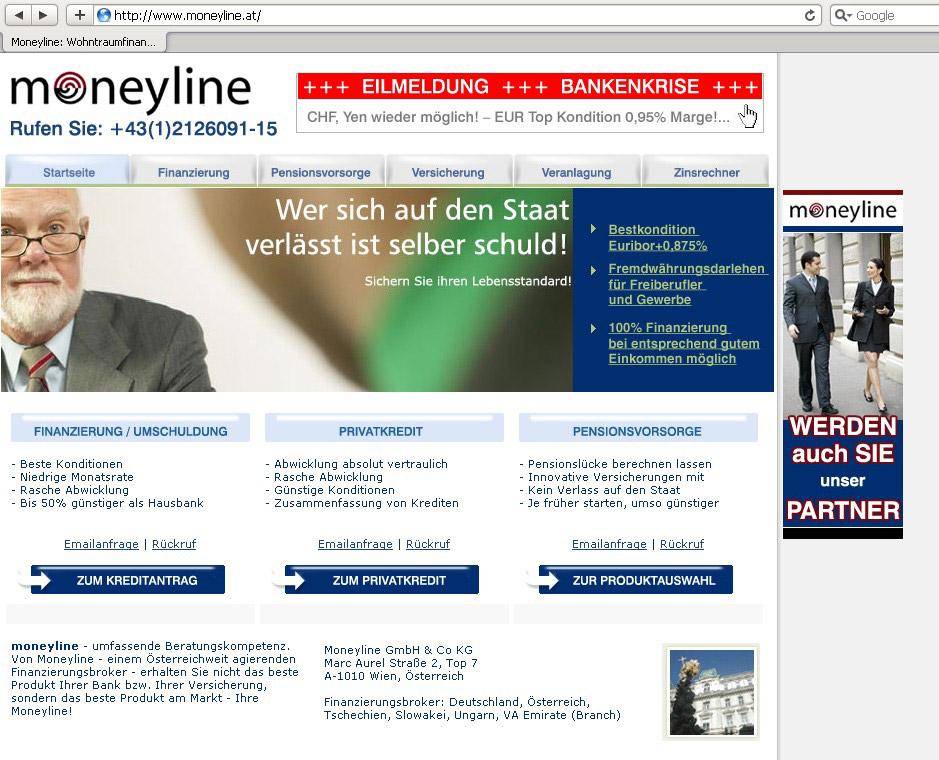 Webdesign für Finanzdienstleister