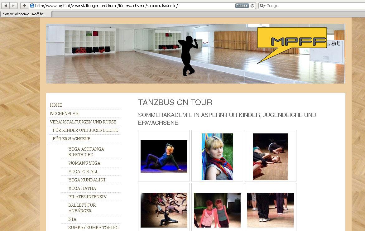 Webdesign für Sporthalle