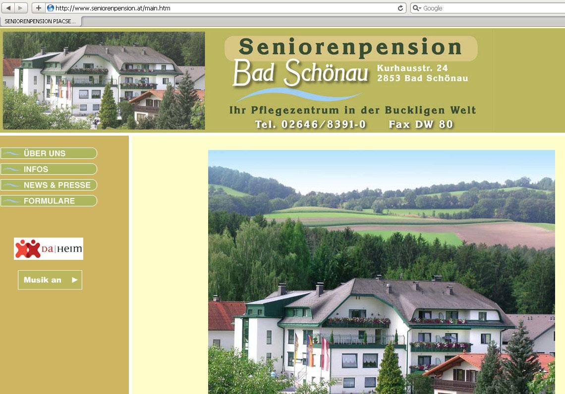 Webdesign für Pensionistenheim