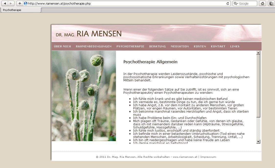 Webdesign für Psychotherapeutin
