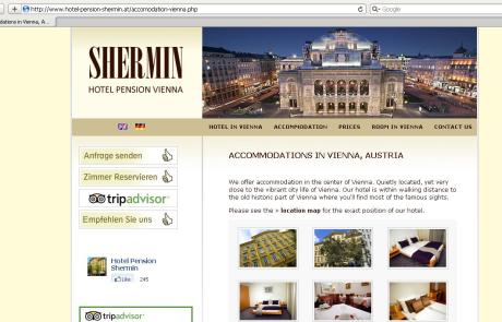 Webdesign für Hotel