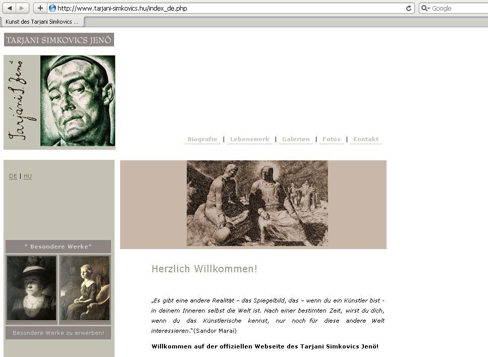 Webdesign für Grafikkünstler