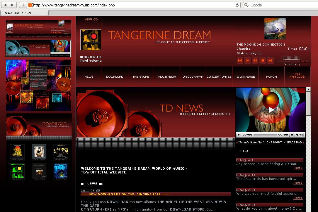 Webdesign für Musikgruppe