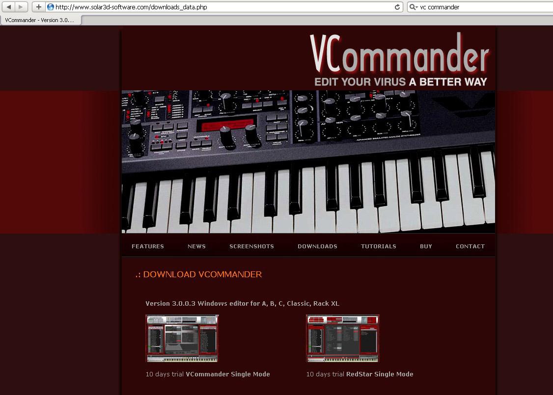 Webdesign für Musiksoftware Entwickler
