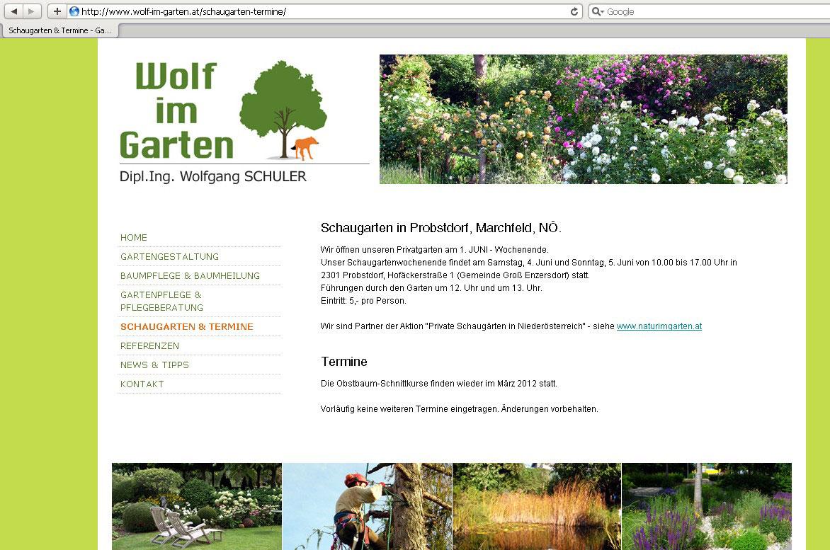 Webdesign für Gärtnerei