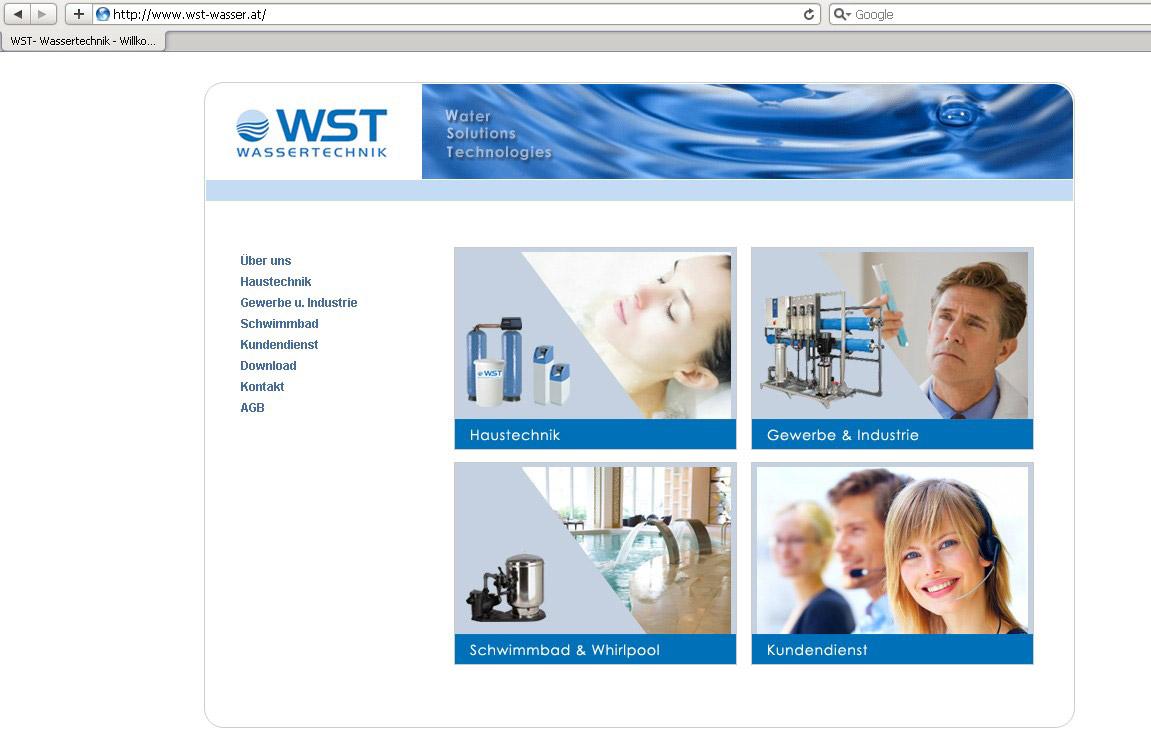Webdesign für Wassertechnik Firma