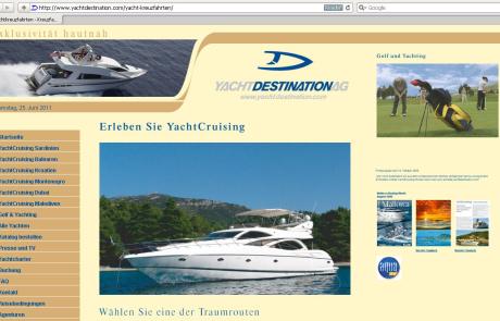 Webdesign für Yachtagentur