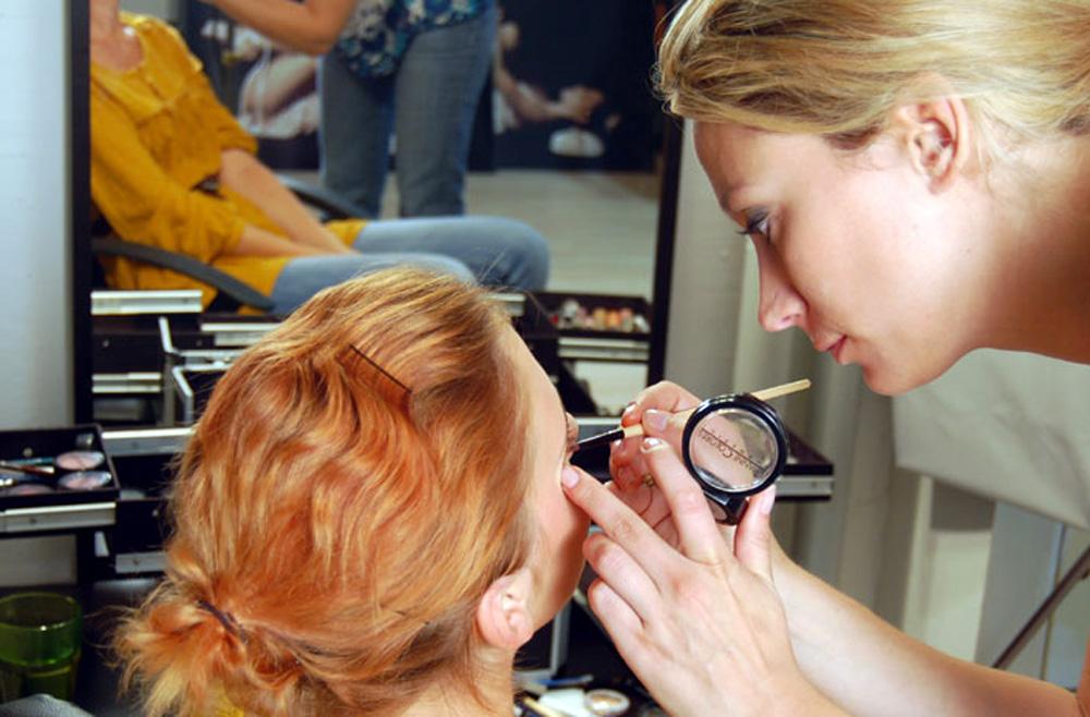 Fotoshooting für Make-Up Artistin