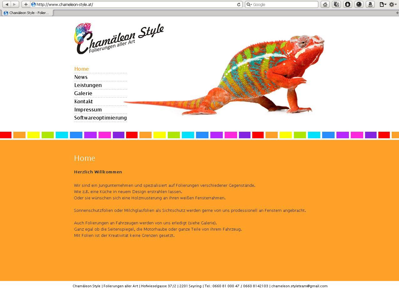 Webdesign für Folierungsfirma