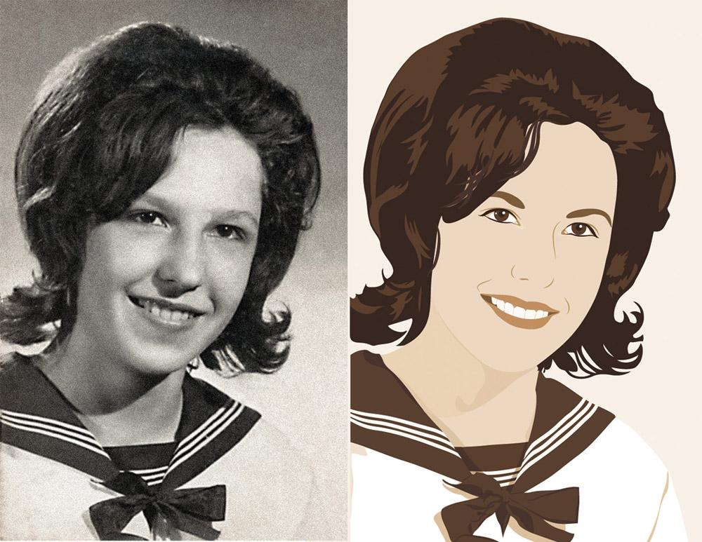 Illustration nach altem Foto nachgezeichnet