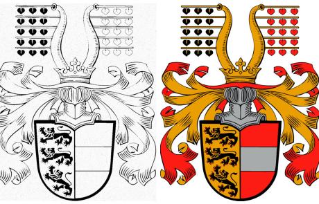 Vektorisierung eines alten Wappens