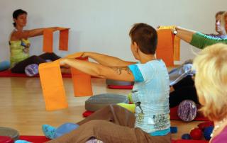 Werbefolder für Pilatesschule