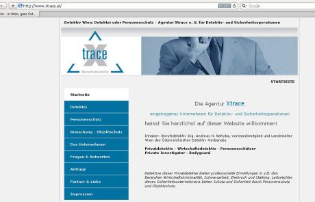 Webdesign für Detektei