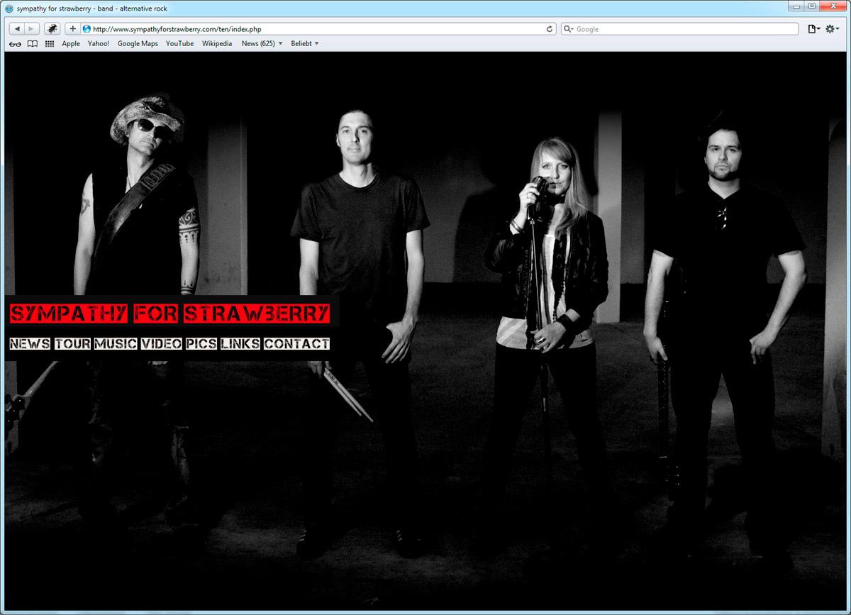 Webdesign für Musikband