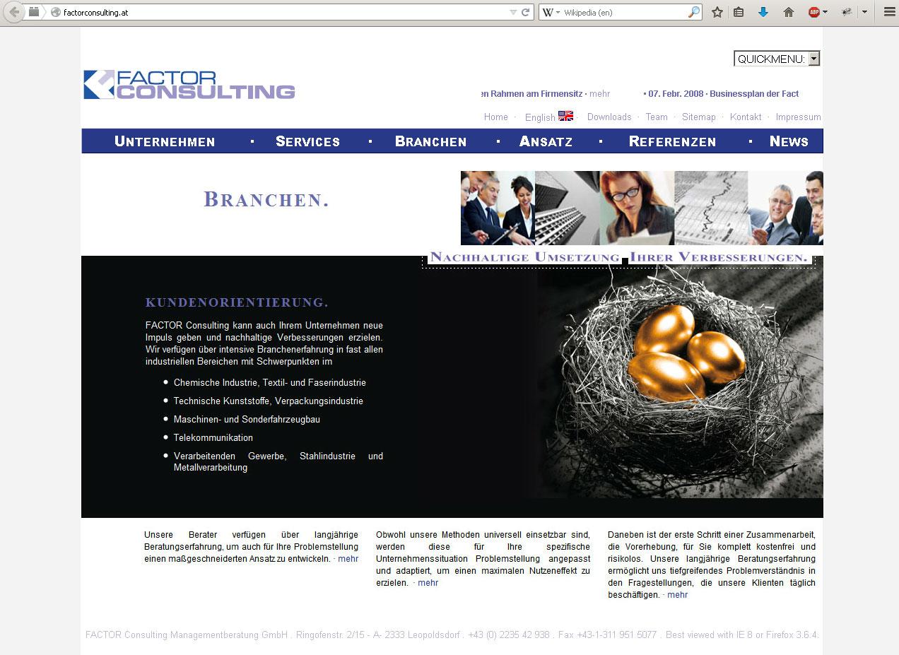 Webdesign für Consulting Unternehmen