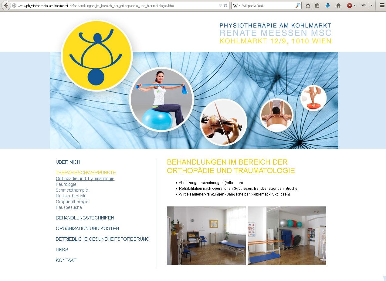 Typo3 Webdesign Phyisotherapeutin