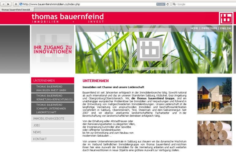 Webdesign für Immo-Invest Gruppe