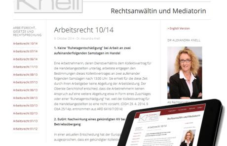 Relaunch der Webseite für Anwaltskanzlei
