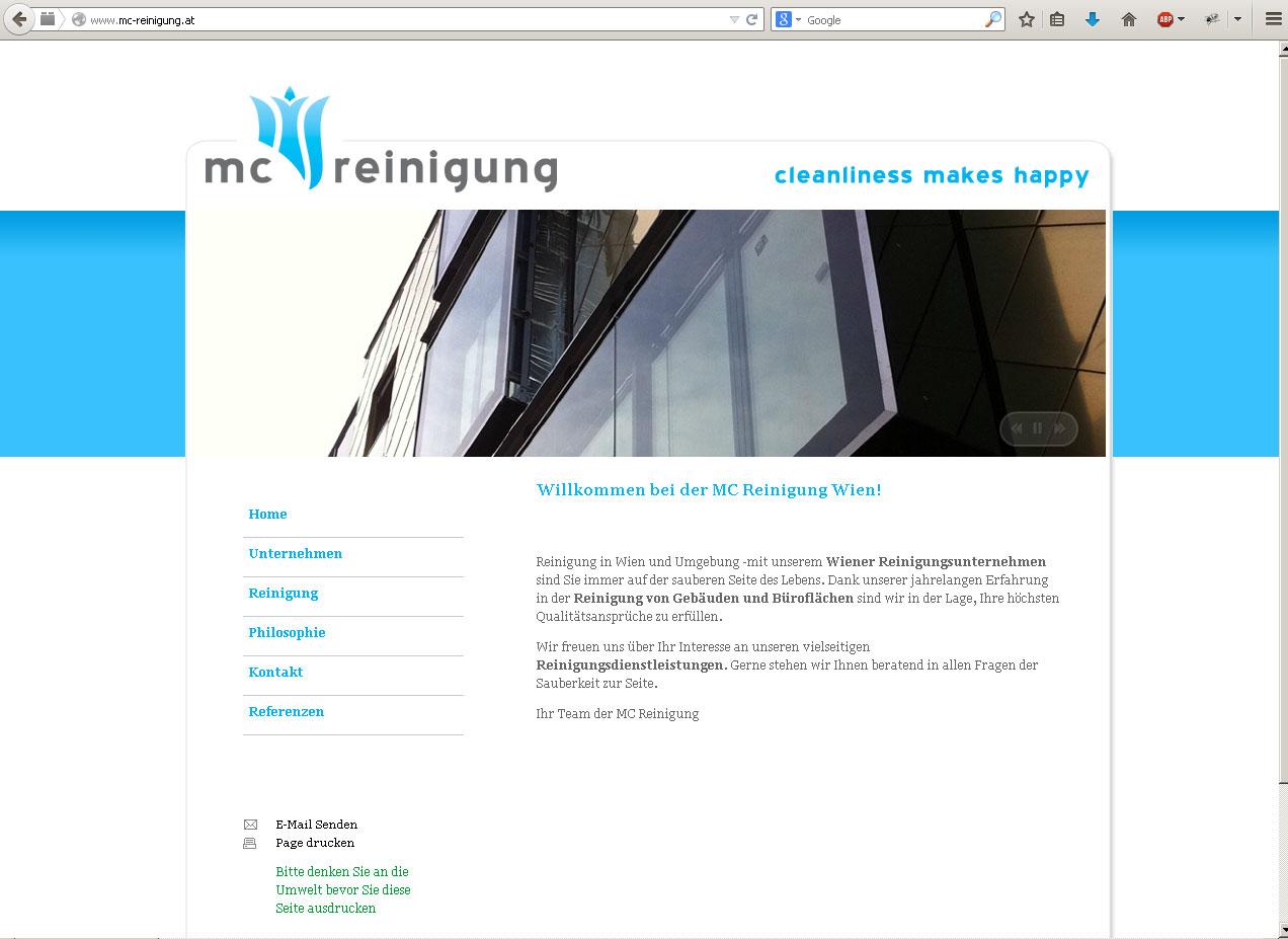 Webdesign Reinigungsfirma