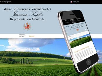 Webseite für Champagnenerzeuger