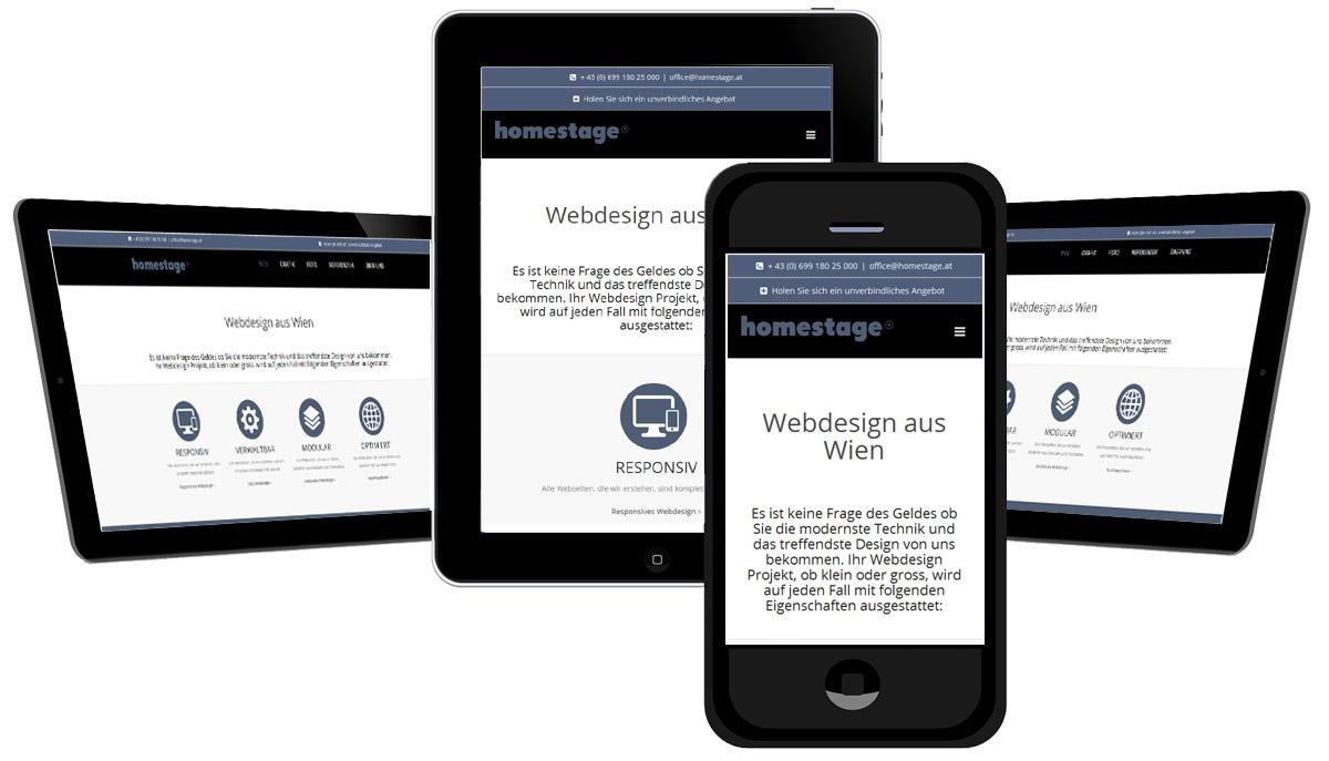 Mobilfreundliche Webdesign Projekte