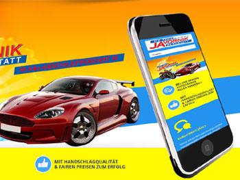 Webseite für Autowerkstatt