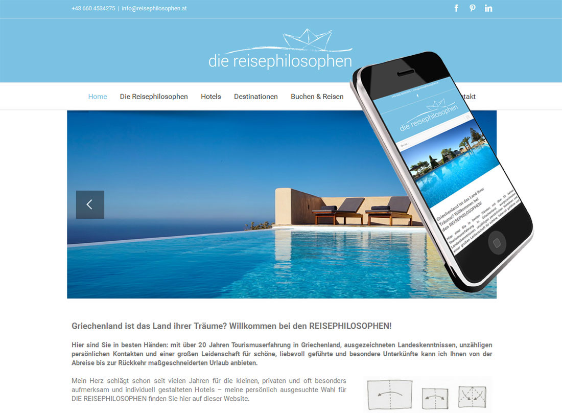 Webdesign für Reiseveranstalter