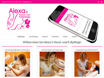 Webdesign für Kosmetiksalon