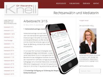 Relaunch der Webseite der Anwaltskanzlei