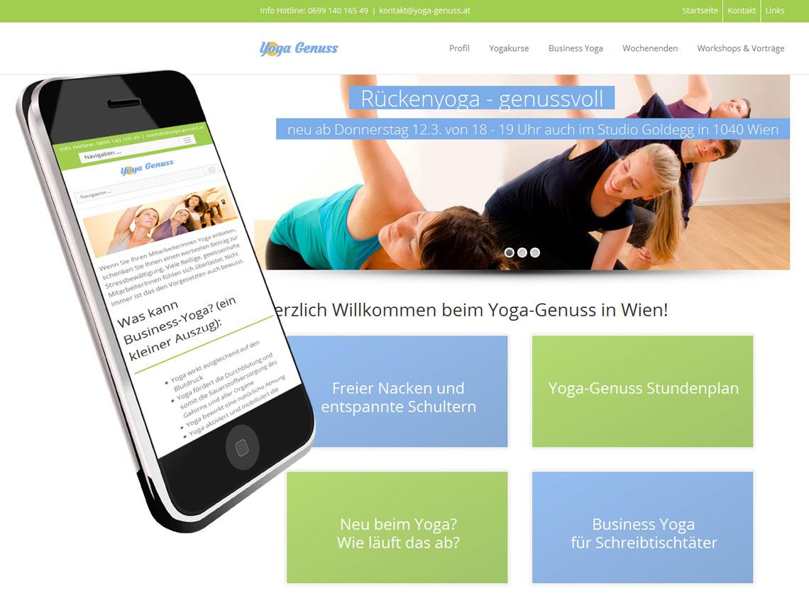 Webdesign für Yogalehrerin