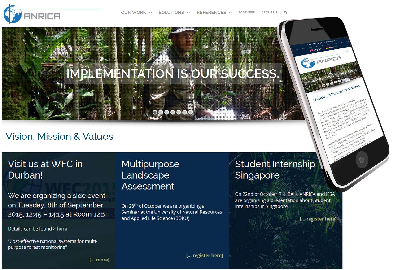 Webdesign für Waldentwicklung
