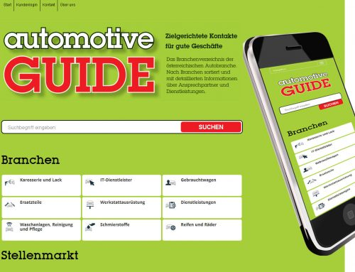 Webkatalog für Automotive Guide