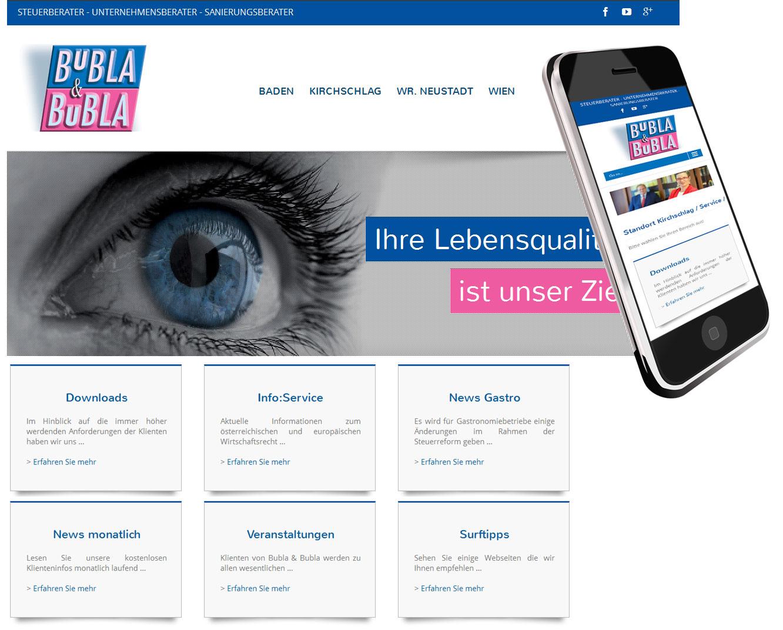 Webseitenerstellung für Steuerkanzlei