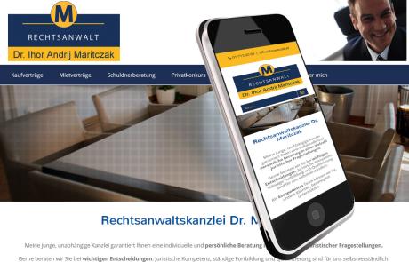 Webdesign für Anwaltskanzlei