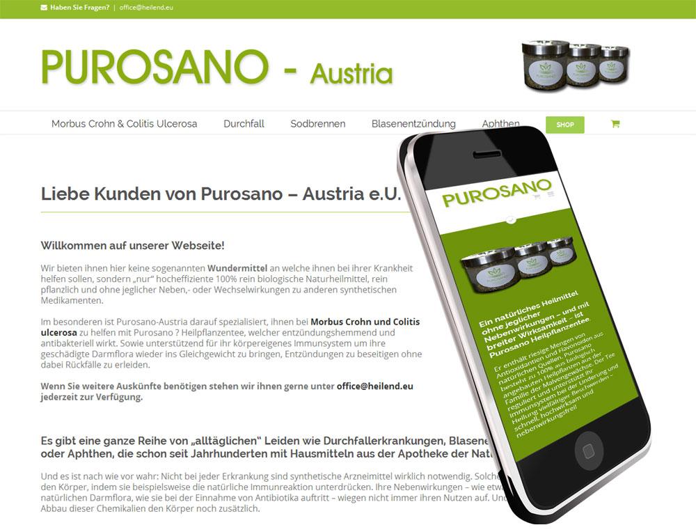 Webshop für Heilprodukte