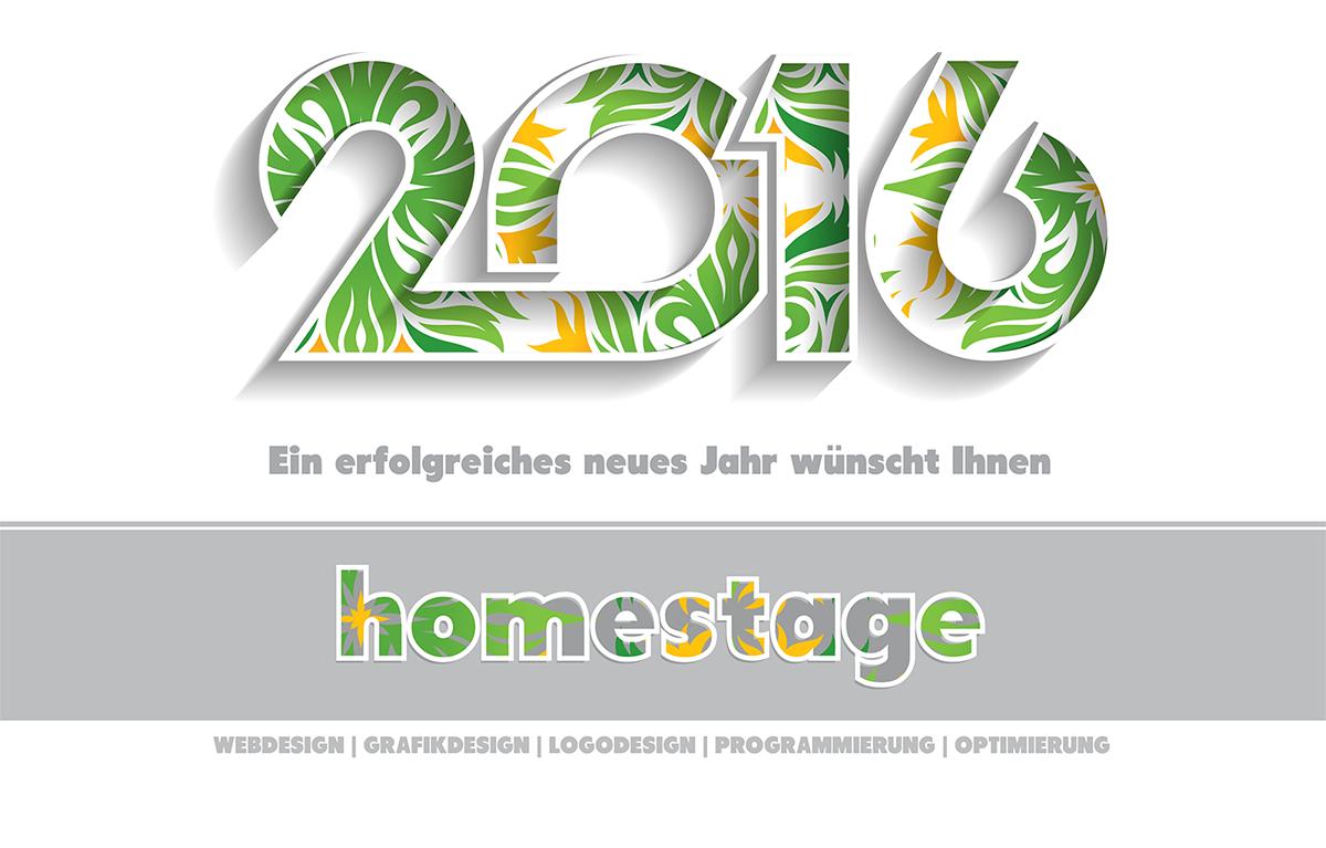 Ein erfolgreiches neues Jahr wünscht Ihnen Homestage